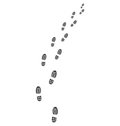 black trail of shoes vector image