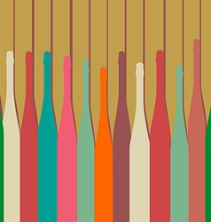 Bottles background vector