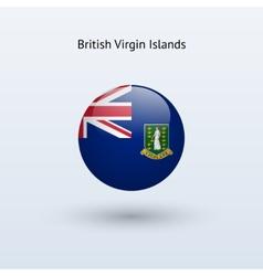 British Virgin Islands round flag vector