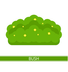Bush with flowers icon vector