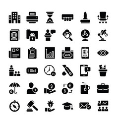 business and finance icons collection vector image