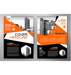 Business brochure flyer design leaflets a4 vector