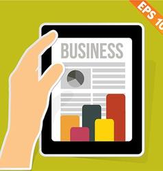 Business News on tablet - - EPS10 vector image
