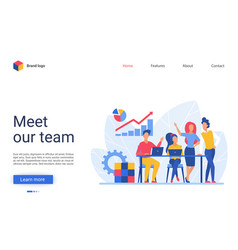 Business people teamwork vector