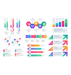 chart elements business presentation graph layout vector image