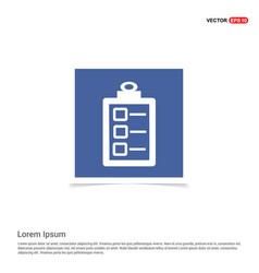 Check list ok icon - blue photo frame vector