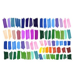 Color stripes drawn with markers vector