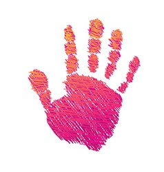 Colored hand with brush vector image