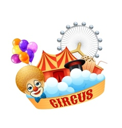Colorful circus concept vector