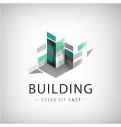 Concept graphic - Colorful buildings of vector image