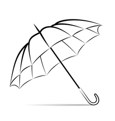 Drawing umbrella on white background vector