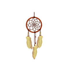 dreamcatcher native american indian talisman vector image
