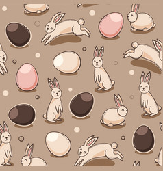easter pattern with egg vector image