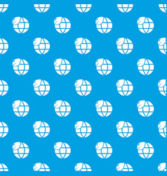 ecology earth globe pattern seamless blue vector image