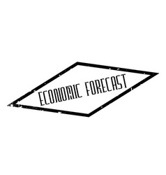 Economic forecast rubber stamp vector
