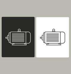 electric motor - icon vector image