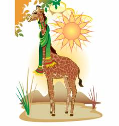 fairytale giraffe vector image