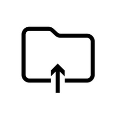 folder upload line icon on white background vector image