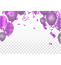 Fuchsia metallic baloons on the upstairs with vector