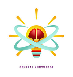 general knowledge thought-out idea vector image