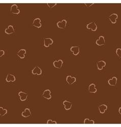 Heart brown seamless pattern vector