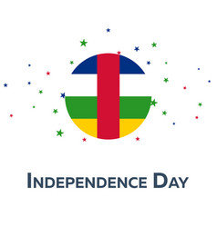 Independence day of central african republic vector