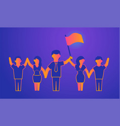leadership gradient on violet vector image