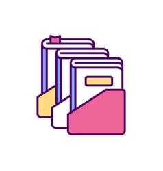 library catalogue rgb color icon vector image