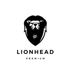 lion head logo icon vector image