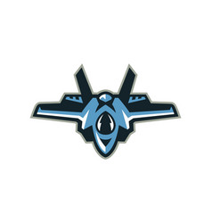 Logo fighter interceptor aircraft vector