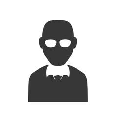 Man silhouette icon Avatar design graphic vector image