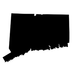 map of the US state of Connecticut vector image