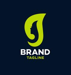 Modern beauty and letter g logo vector