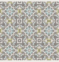 mosaic geometric seamless tiles design vector image