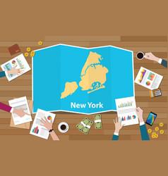 New york city usa america united states city vector
