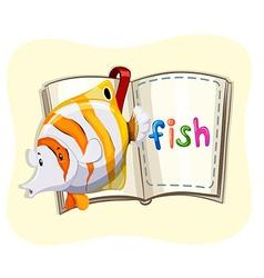 Ocean fish and a book vector
