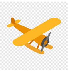 Orange plane isometric icon vector