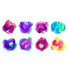 organic fluid shapes colorful gradients shape vector image