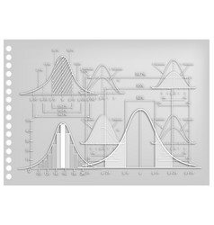 paper art of standard deviation diagrams with samp vector image