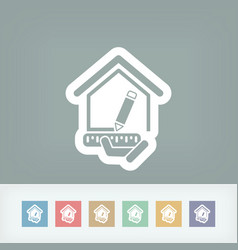 Planing house vector