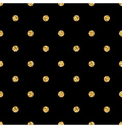 Polka dot small gold 1 black vector