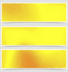 Pop-art dotted retro style yellow flyer collection vector