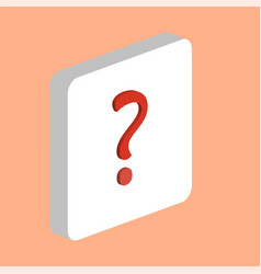 question computer symbol vector image