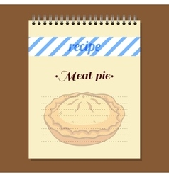 Recipe Book Meat Pie vector