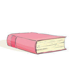 Red book on white background vector