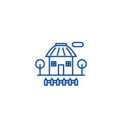 rural house line icon concept rural house flat vector image