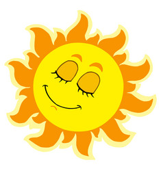 Sleeping sun vector