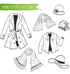 spring clothing collection vector image