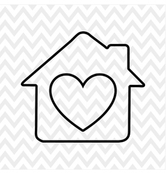 sweet home design vector image