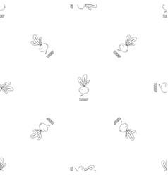 turnip pattern seamless vector image